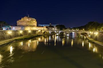 Bridge of Angels across the Tiber river in Rome