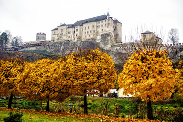 Cesky Sternberk castle in the fall