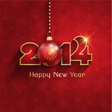 Fototapety New year bauble background