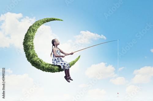 Kid on moon