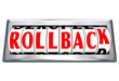 Rollback Word Rolling Back Time Price Save Money