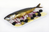smoked mackerel with lemon and olives