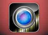 Camera lens application icon