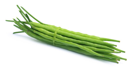 Bundle of green mustard beans