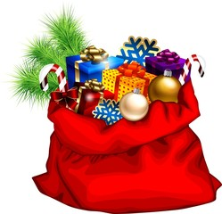 Christmas bag with gifts