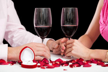 Proposal wine glasses