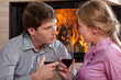 Couple wine toast