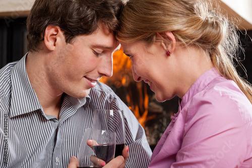 Inlove people drinking wine