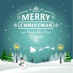 Christmas Background Greeting Card 02