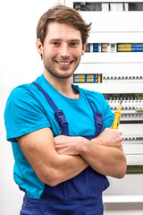 Portrait of a young handyman
