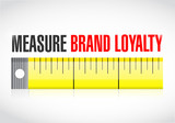 measure brand loyalty concept illustration