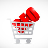 seo shopping cart illustration design