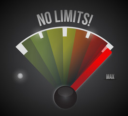 no limits speedometer illustration design