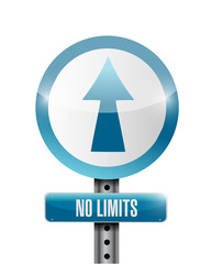 no limits road sign