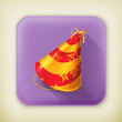 Party hat, long shadow icon