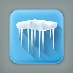 Icicles, long shadow icon