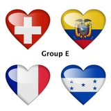 Group E, Switzerland , Ecuador, France, and Honduras