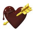 Heart-shapedChocolateWithGoldenArrow