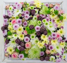 Blumenmeer im Rahmen