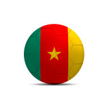 Cameroon flag ball isolated on white background