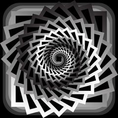 Design monochrome abstract spiral movement background