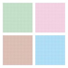 Set of square seamless pattern
