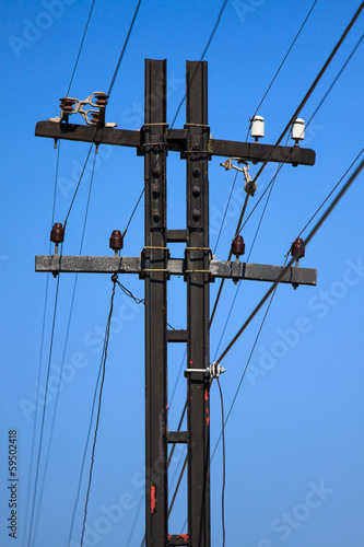 High voltage poles,Mono pole transmission line tower
