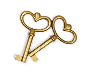 two vintage keys