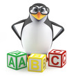 Boffin penguin teaches the ABC