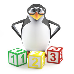 Boffin penguin teaches math