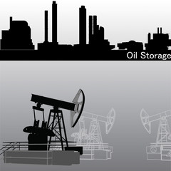 Oil pump with Oil Storage Vector