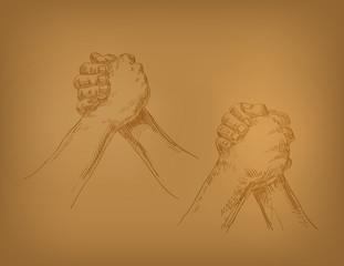Hands. Vector format