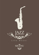 cover for a jazz restaurant menu with cutlery and saxophone - 59505890