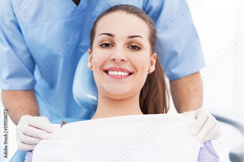 Young woman at dentist office