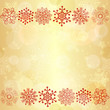 Gold  glowing seamless christmas pattern