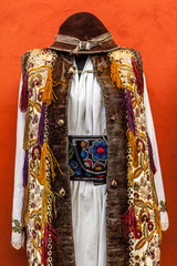Romanian traditional costumes from Transylvania area. Sighisoara