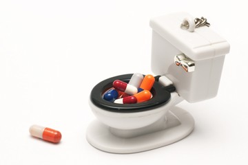 Pills, capsules on white background, Pharmacy, Medicine