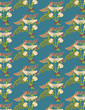 Chrysanthemums seamless pattern