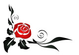 Naklejka Abstract rose corner