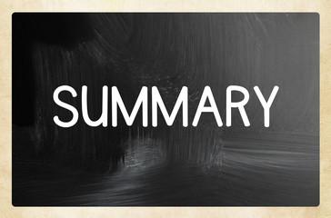 summary concept