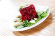 salad with boiled beet and herring