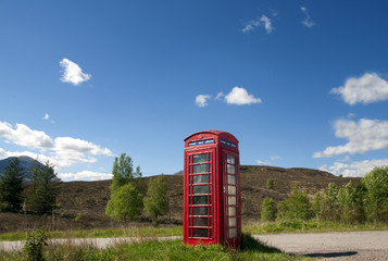 Phone Booth in the Highlands