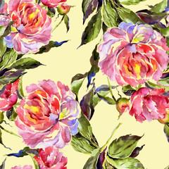 Pattern of pink peonies - 2