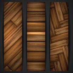 Wooden texture banner.