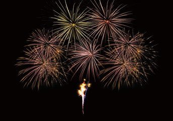 Feu artifice firework composition