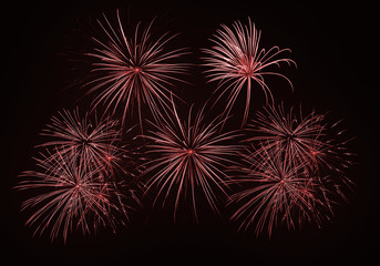 Feu artifice firework composition red