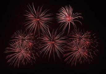 Feu artifice firework composition red