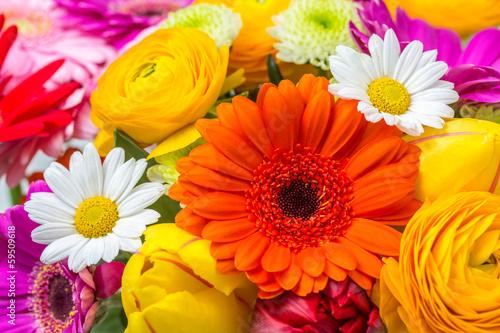 canvas print picture Blumen als Hintergrund