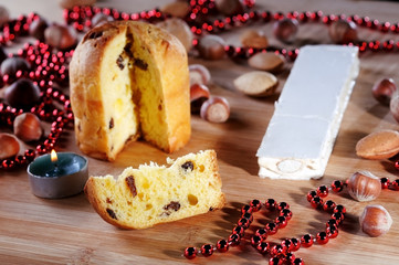 Panettone and candle