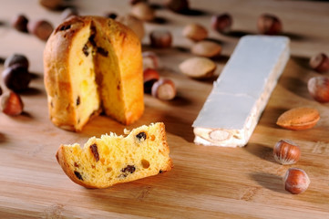 Panettone and nuts